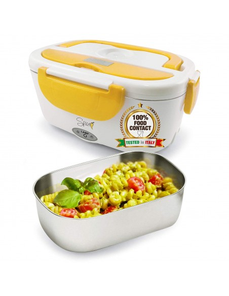 Spice Amarillo inox Plus Scaldavivande portatile Lunch Box 40 W Dop... -
