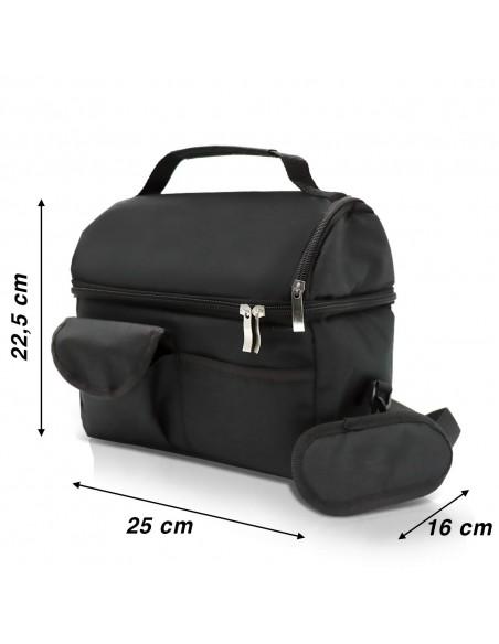Borsa Termica capacità 8 litri con tracolla: dimensioni 22 x 16 x 22,5 cm dimensioni Borsa 22 x 16 x 22,5 cm - Capacità