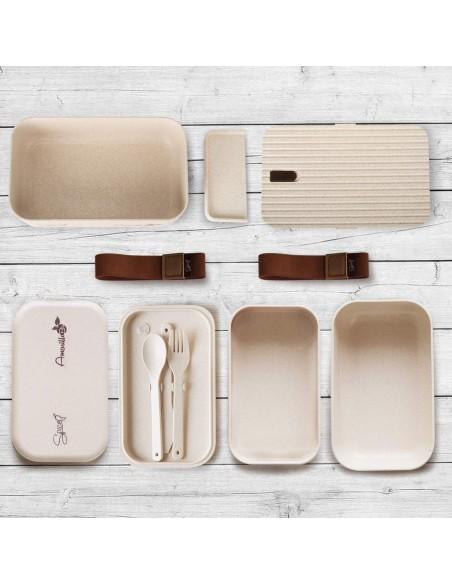 Spice Amarillo Bio Trio Set 2 Portable Bento Box Ecological Material ... -
