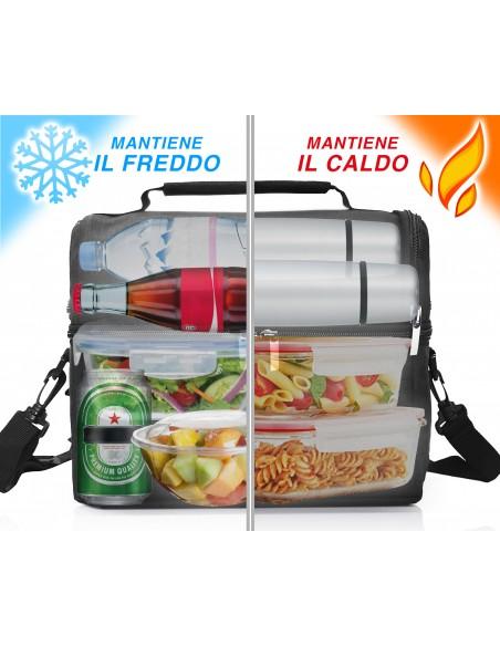 Set Thermal Bag + Thermal Bottle Stainless Steel 500 ml + Warmer ... -