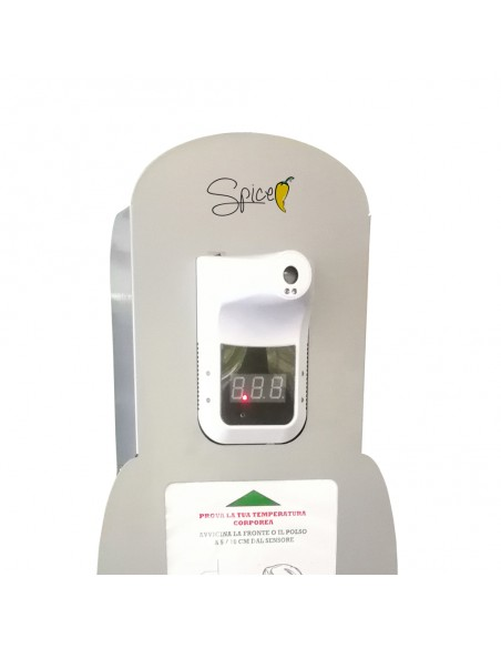 Spice Totem GEL Premium CT by MAPA - Totem porta dispenser gel disinfettante con termometro a raggi infrarossi -