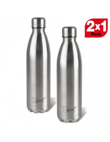 Set 2 Stainless Steel Thermal Bottles 500 ml SPP058-SET1000I -