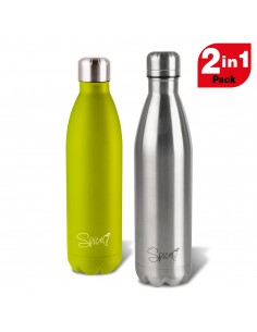 Set 2 Borracce Termiche in Acciaio Inox 750 ml + 750 ml SPP058-SET1250GI -