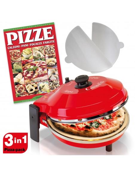 Set 3x1 Fornetto Pizza Spice Caliente ✓ Ricettario ✓ 2 Palette alluminio -