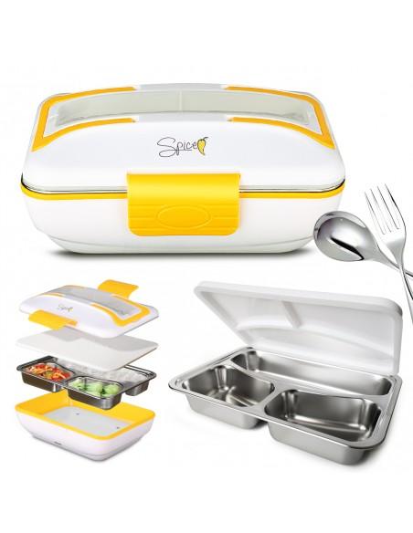 Spice Amarillo Inox Trio Food Warmer Lunch Box 40 W + Tray ... -