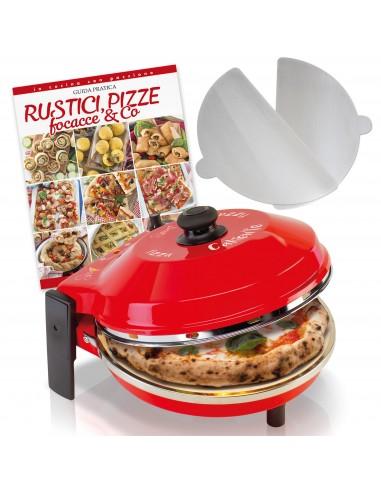 Caliente 1200 W Pizzaofen-Set +...