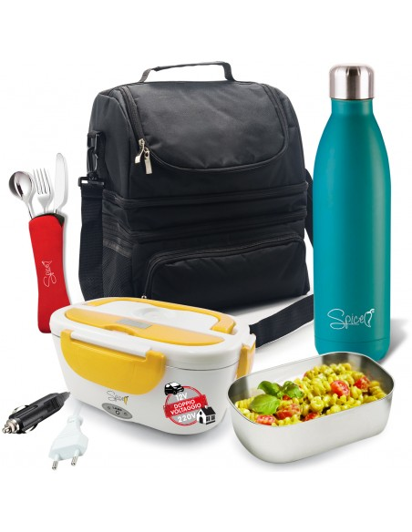 Spice Insulated Bag 22 L + 750 ml Stainless Steel Bottle + Warming Do ...-