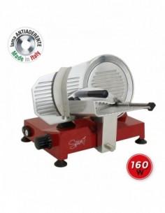 Diametro lama: 220mm. Colore: Rosso Spice Lama Made in Italy in alluminio pressofuso Spessore di taglio massimo: 16 mm W