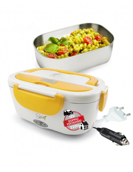 Spice - Amarillo inox Plus Scaldavivande portatile Lunch Box Doppio... -