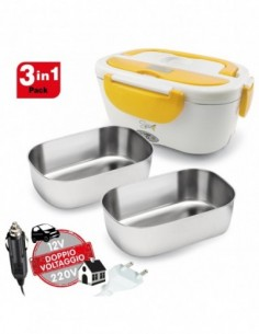 Spice Amarillo inox Plus Scaldavivande portatile Lunch Box 40 W Dop... -