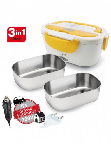 Spice Amarillo inox Plus Portable Chafing Dish Lunch Box 40 W After ...-