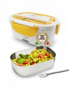 Spice Amarillo inox lunch box portatile 220V + Forchetta Inox e vas... -