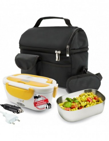 Set Insulated Bag + Spice Amarillo inox Double electric chafing ... -