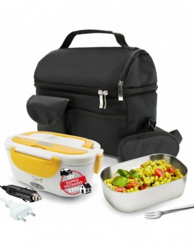Set Insulated Bag + Spice Amarillo inox Double-voltage chafing ...-