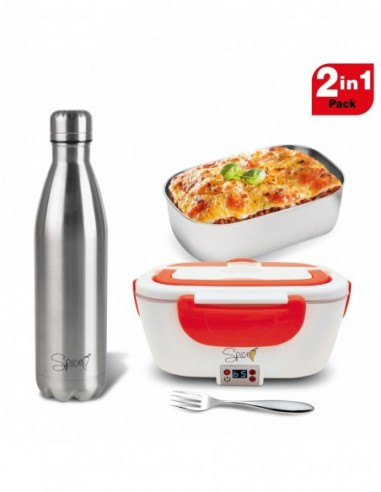 Spice Set Scaldavivande Amarillo inox Digital 1,5 L Vaschetta Accia... -