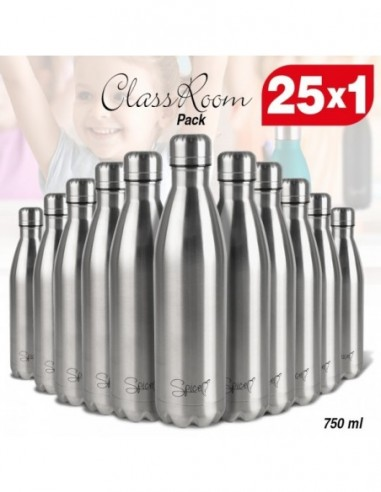 Set 25 Thermal Bottles in Stainless Steel 750 ml | Spice ClassRoom -