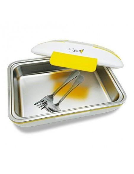 Spice - Amarillo inox Trio Plus Scaldavivande portatile Lunch Box D... -