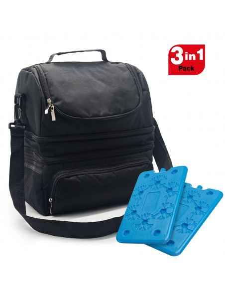 Spice Insulated Bag 22 L capacity with Lunch Shoulder Strap + Set 2 ...-