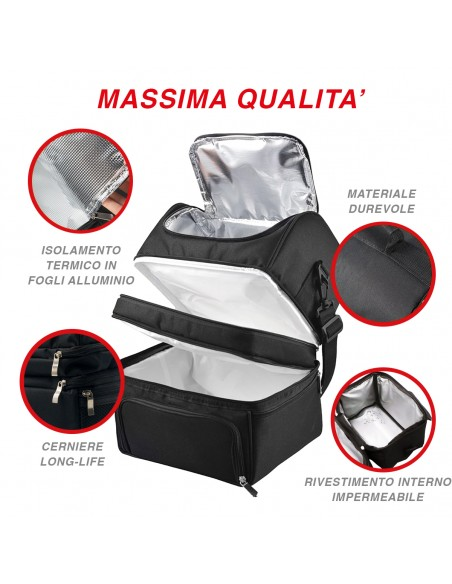 Spice Insulated Bag capacity 22 L Lunch Box + Double Food Warmer ... -